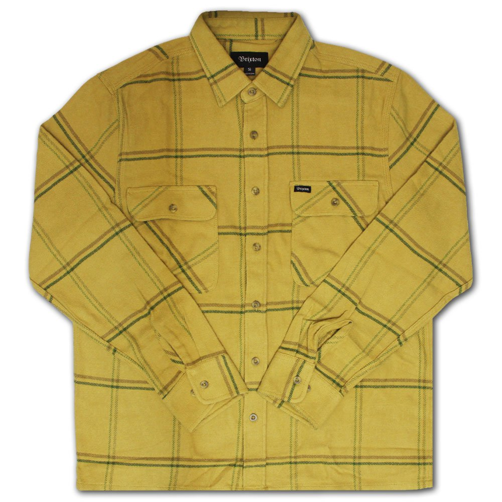 Brixton Archie Flannel Shirt Yellow