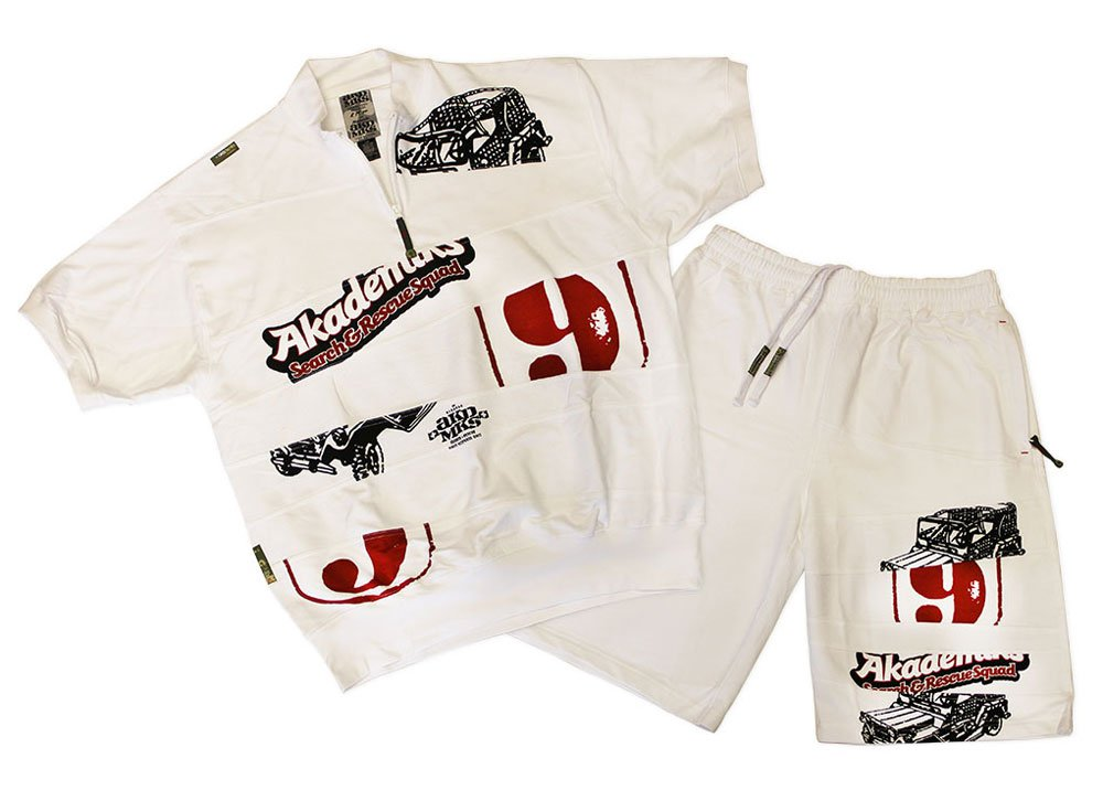 Akademiks Shorts Set White