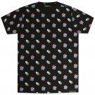 Pink Dolphin Waves All Over T-Shirt Black