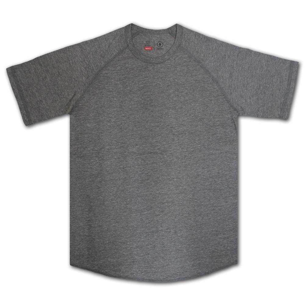 Brixton Basics Baseball T-Shirt Grey
