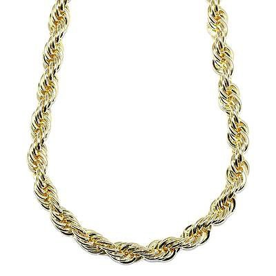 Hip Hop Rope Chain 18K Gold Plated Stainless Steel 10mm x 30 inches HIGH QUALITY