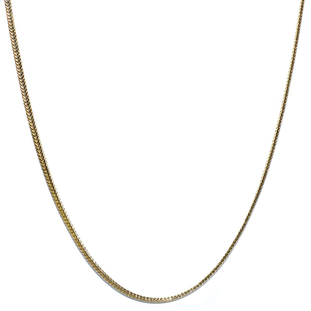 18 kt Gold plated Flat Franco Box Chain 1.5mm