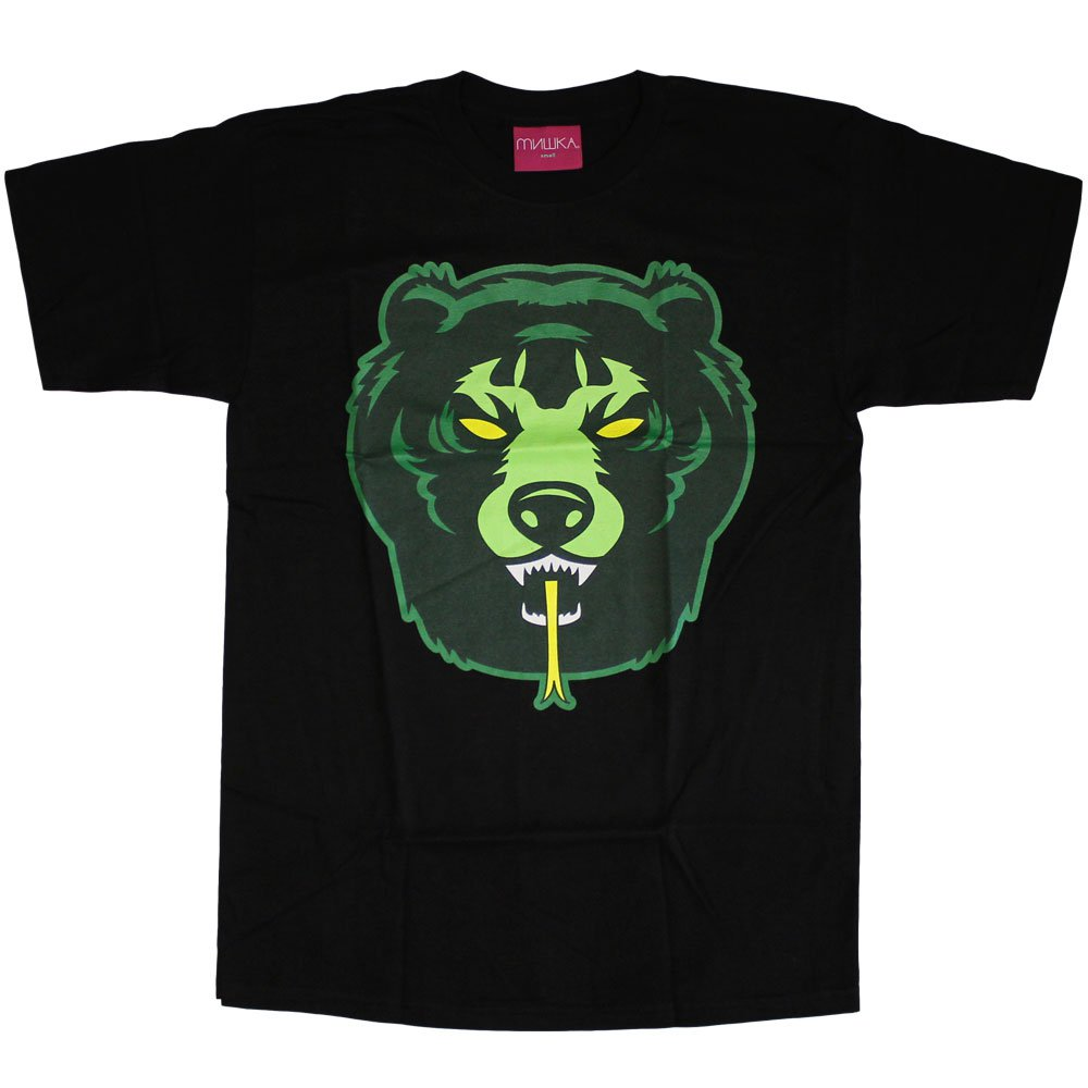 Mishka Death Adder T-Shirt Black Green Yellow