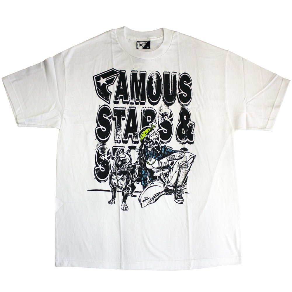 Famous Stars and Straps Neighborhood Chola T-Shirt White