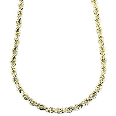 Gold Plated RUN DMC HIP HOP Rope Chain, Dookie Chain FILLED 6mm X 24 Inches