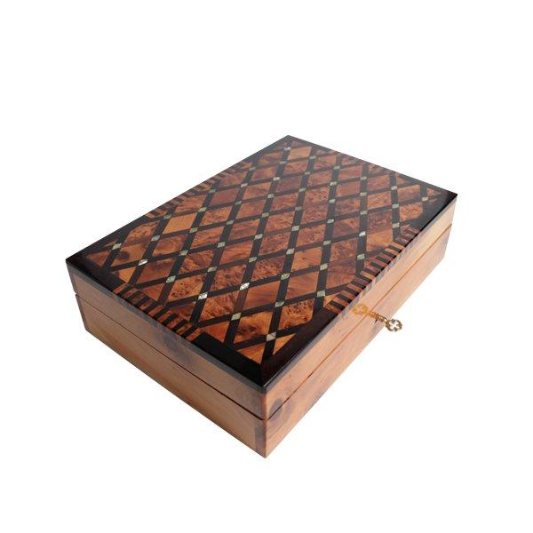 Thuya box :Modern Thuya handmade rectangular box from Morocco