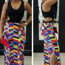 Multicolor Hollow Waist Maxi Vest Dress  - (Sizes: S,M,L,XL) - Expedited Shipping