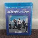 FAST FIVE,  BLU-RAY, Digital, Ultraviolet, PAUL WALKER, Vin Diesel. Like New. LOOK!!!