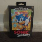 "SONIC The Hedgehog ""Not For Resale"" For Sega Genesis, with plastic case, instructions. LOOK!!"