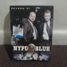 NYPD BLUE - DVD: Season 01, First Season, 6 discs, Good, Used. LOOK!!!