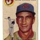 1954 Topps Hank Sauer #4, Not in good condition.....LOOK!!