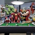 "Afterhours - Superheroes Play Pool  Art Print A1 (594x841mm/23.4x33.1"")"