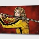 """Tarantino: Kill Bill - The Bride - Mounted Canvas 16x22"""""""