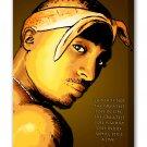 "Tupac Shakur - Mounted Canvas 16x22"""