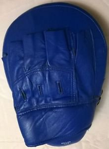 MMA Muay Thai Boxing Kick Punch Pads Hand Target Focus Training Mitts Blue