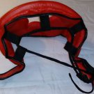 Muay Thai Head Guard Kick Boxing Protection Gear MMA RED NEW