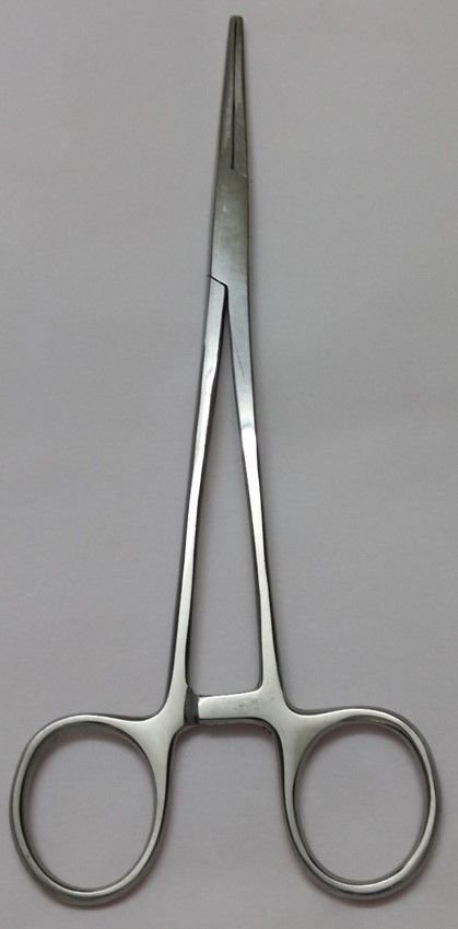 Dental Kelly Locking Forceps 7'' Straight Hemostat Surgical Veterinary Pliers