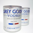 Grey Goose Bottle 1L Upcycled glass set (2)