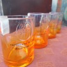 Ciroc Bottle Upcycled Shotglasses,  Set of 4, Orange