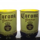 Corona Familiar Recycled Bottle Beer Glass-Set of 2