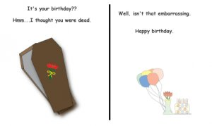 Greeting Cards Sarcastic Birthday Cards 001