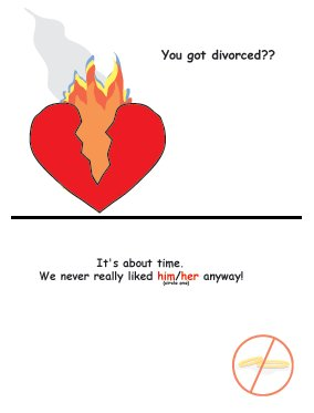 Greeting Cards Sarcastic Divorce Cards 007