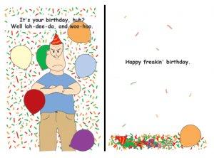 Greeting Cards Sarcastic Birthday Cards 010