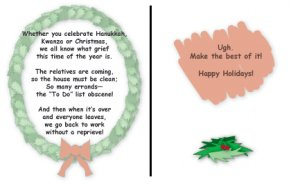 Greeting Cards Sarcastic Holiday Cards 044