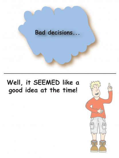 Greeting Cards Sarcastic Bad Decisions Cards 063