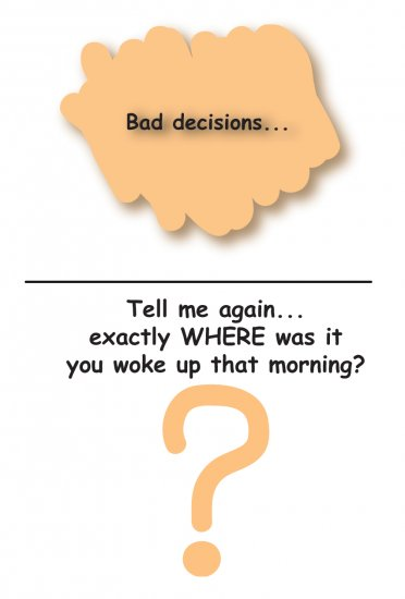 Greeting Cards Sarcastic Bad Decisions Cards 065