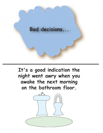 Greeting Cards Sarcastic Bad Decisions Cards 068b