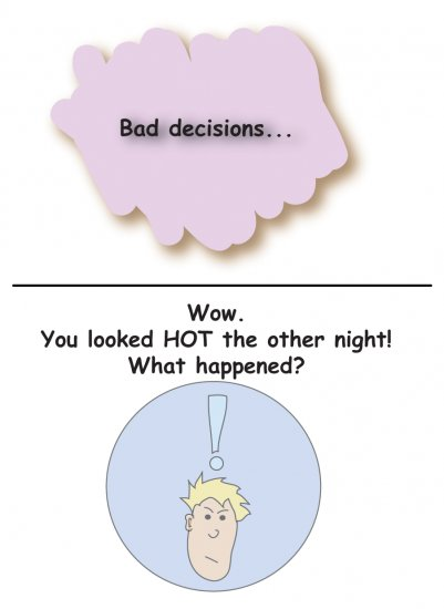 Greeting Cards Sarcastic Bad Decisions Cards 071b