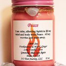 Intention Soy Jar Candle - Peace ( Metaphysical / New Age / Pagan / Wicca / Magic )