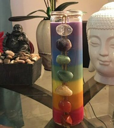 Chakra Soy Jar Intention Candle