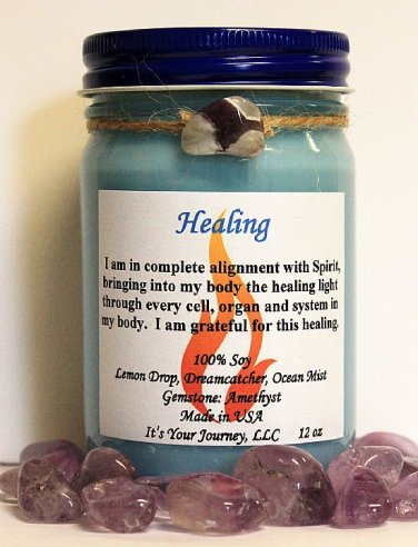Intention Soy Jar Candle - Healing ( Metaphysical / New Age / Pagan / Wicca / Magic )