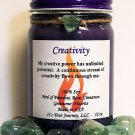 Hand Made Intention Soy Jar Candle - Creativity ( Metaphysical / New Age / Pagan / Wicca / Magic )