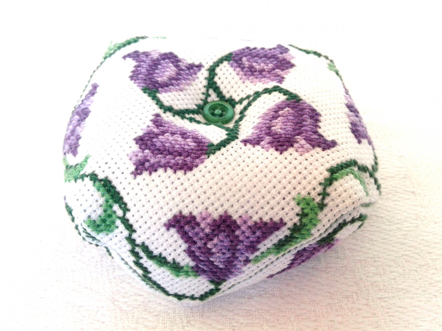 Biscornu, modern cross stitch, Pincushion, Handmade gift, Home decor, Embroidery, Interior decor