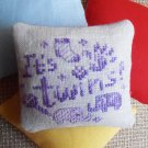 Lavender sachet, preserved lavender, dried lavender, unusual gift, funny cross stitch, lavender bags