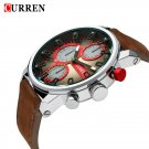 CURREN 8170 Sporty Casual Fashion Quartz Watch. Leather Band. Water Resistant