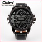 OULM 3233 Oversized 4-dial/4-Time Zone Watch. Japanese Quartz Movement