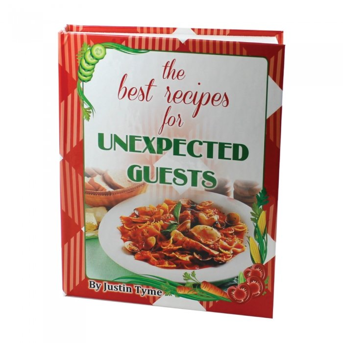 Hand Gun Hider Book Safe Concealed Hidden Compartment Best Recipes UnwelcomeGuest