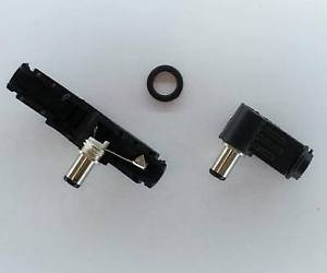 PLUGZ2GO L-Shaped Right Angle DC Plug Jack Connector 2.1mm