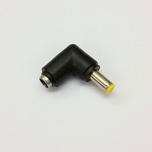 DC 2.1MM 90° RIGHT ANGLE FEMALE to DC 2.5MM YELLOW TIP