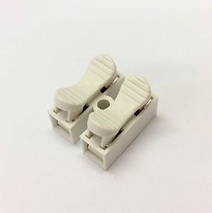 Quick Fix Spring Clamp Terminal Block Connector 380V 10A 2 Way Easy Fit