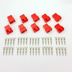 PK OF 10 - MALE 4 PIN FAN POWER CONNECTOR - RED COLOUR INC PINS