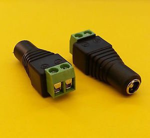 PLUGZ2GO FEMALE 2.1MM X 5.5MM DC POWER JACK PLUG for CCTV/REPAIRS DIY