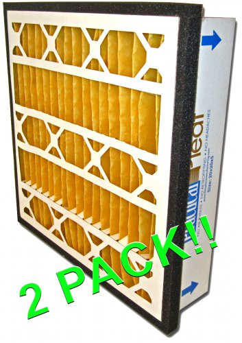 """20 x 20 x 5"""" Practical-Pleat Pleated Filter for Return Grille AC (2 Pack) MERV 11"""