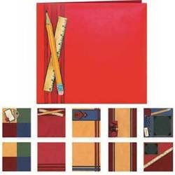 School - Provo Craft Premade 8x8 Scrapbook Album