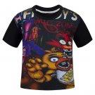 Cartoon Five Night at Freddy Kids Girls Boys Short Sleeves T-shirts
