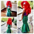 Girls Mermaid Tail Costume Princess Ariel the little Mermaid Kids Dress Swimming Suit